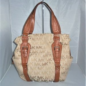 edbc40833213 ... shop michael kors lattington drawstring large tote bag 0faad 95a20